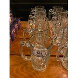 LOT OF (6) GLASS MUGS