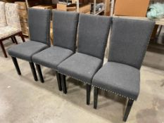 GREY CHAIRS - LOT OF 4