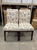 WHITE FLORAL CHAIRS - LOT OF 2
