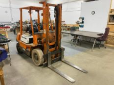 Toyota 62-3FG20LPG Forklift, 4,000lb. Capacity, 2-Stage, 9,665 Hours Showing