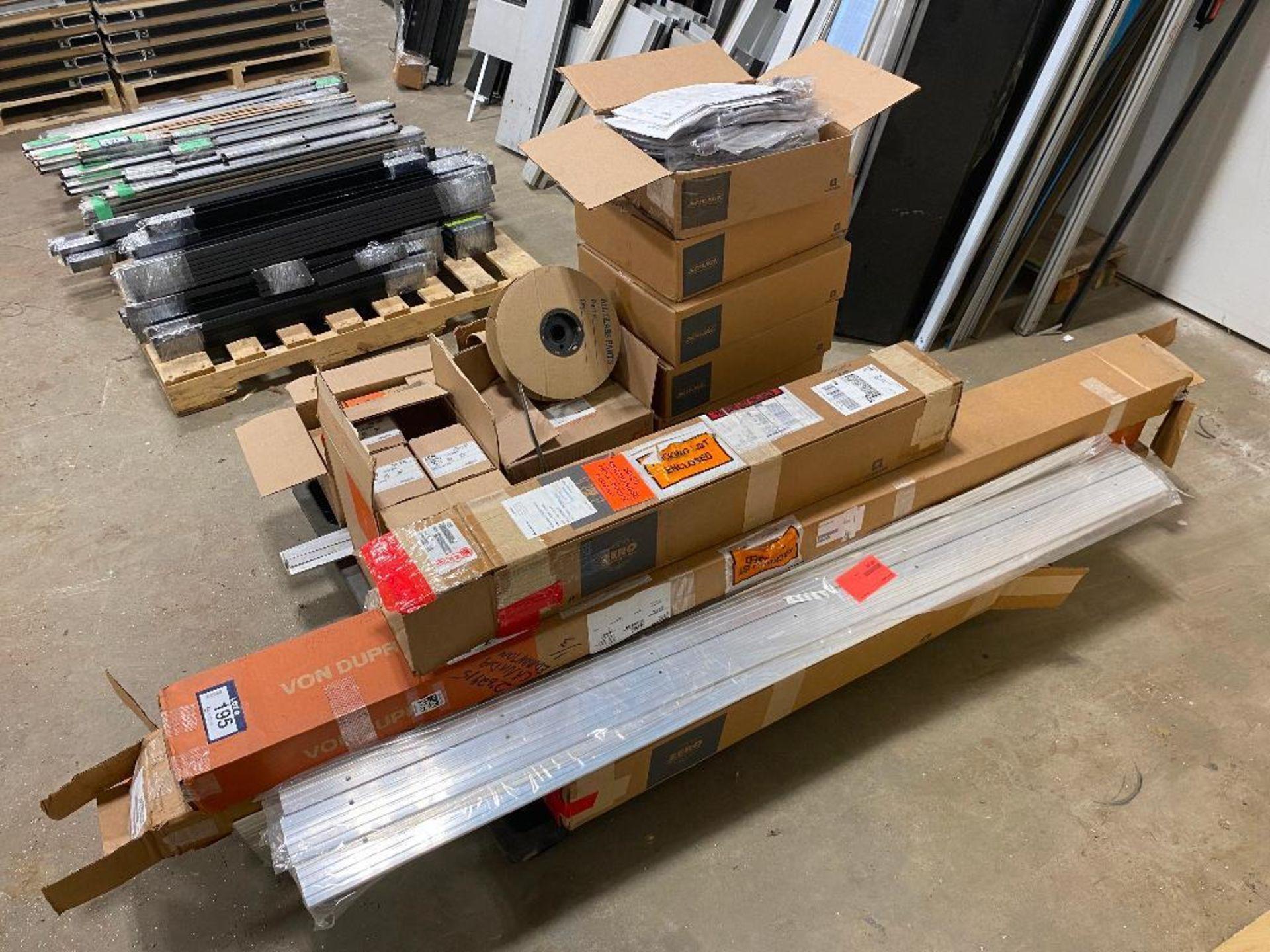 Pallet of Asst. Von Duprin Door Hardware, Thresholds, Schlage Power Supplys, etc. - Image 2 of 3