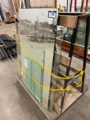 Contents of Material Rack including Glass Panes, Mirror, etc.