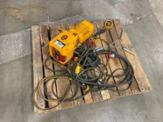 KITO 500kg Electric Chain Hoist, Size:C, 1PH, 115V