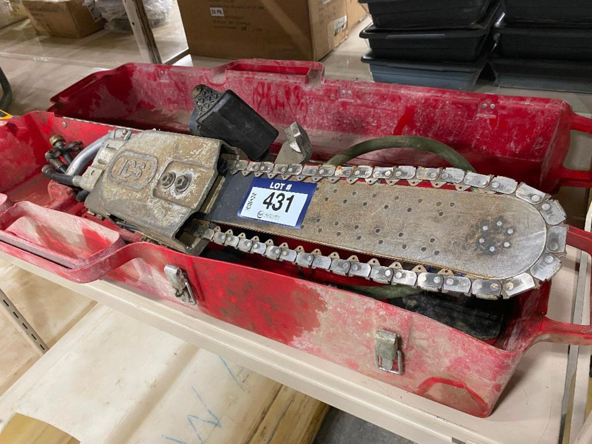 ICS Hydraulic Concrete Chain Saw w/ Case - Image 7 of 10