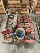 Pallet of Asst. Drill Bits, Wrenches, Pry Bar, Fall Arrest, Air Hose, etc.