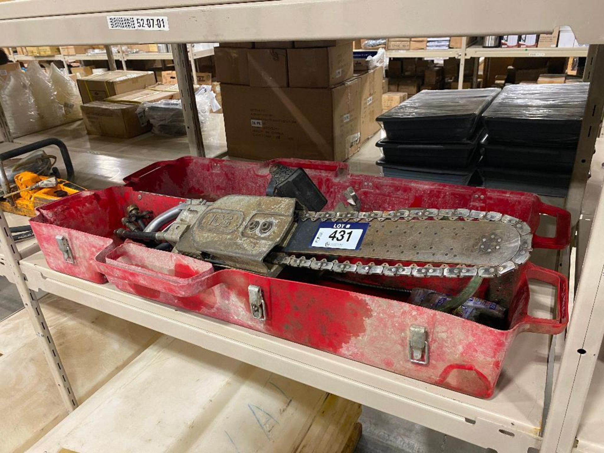 ICS Hydraulic Concrete Chain Saw w/ Case - Image 6 of 10