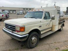 1990 Ford F-450 Super Duty DRW XLT Lariat Regular Cab w/ Hydraulic Power Pack, Poly Tank, etc.