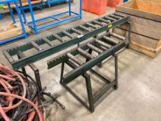 "Lot of (2) Asst. 12"" Roller Tables"