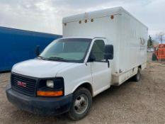 2008 GMC Savana Cube Van w/ Ramps, Poly Tank, Storage, etc. VIN#: 1GDJG31K981169176