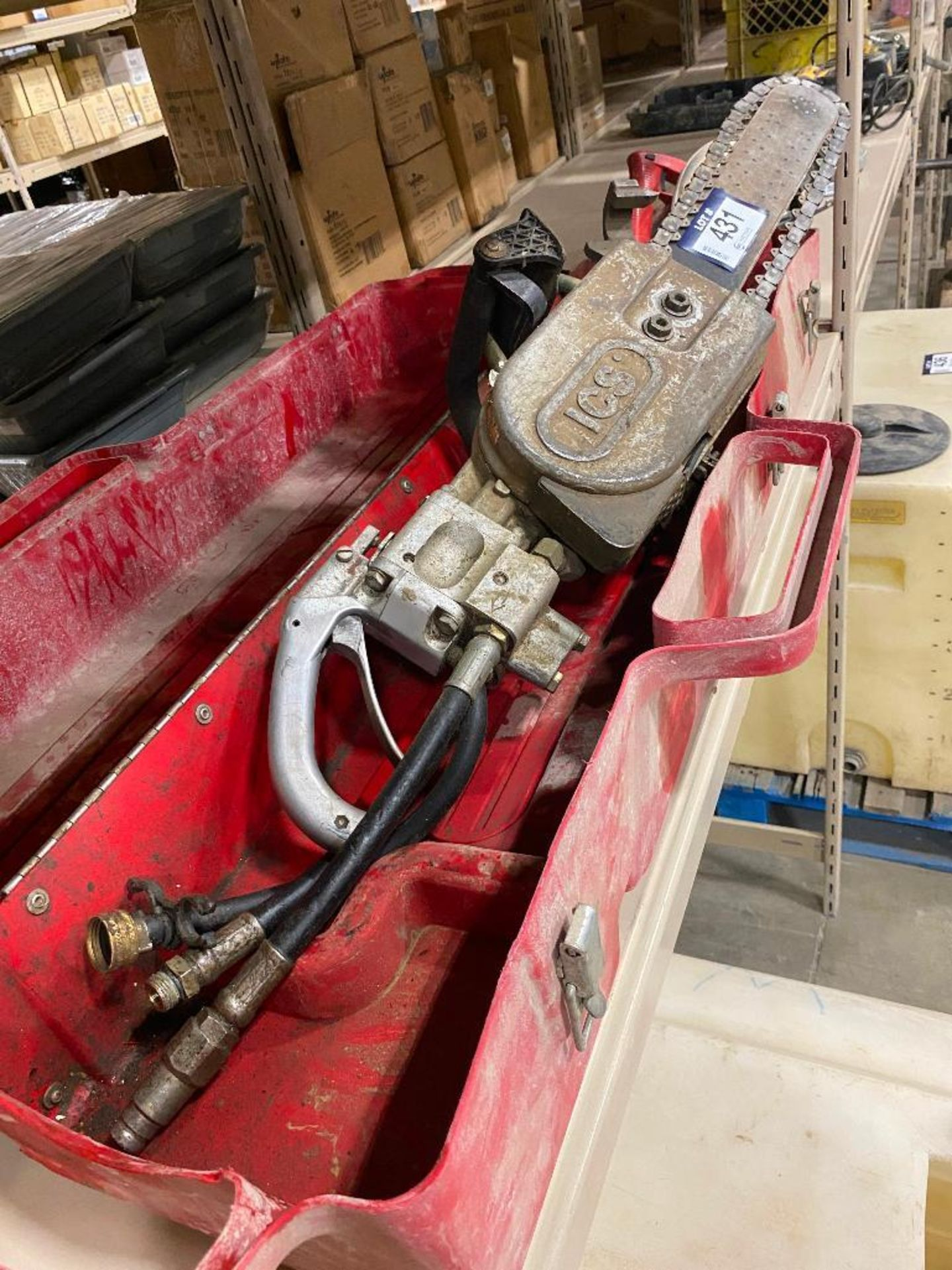 ICS Hydraulic Concrete Chain Saw w/ Case - Image 8 of 10