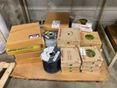 Pallet of Asst. Electrical Wire, Core Wire, Gasket Kits, etc.