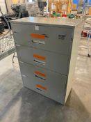4-Drawer Horizontal Filing Cabinet