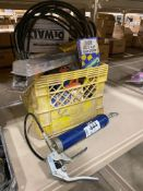 Lot of Windshield Wipers, Grease Gun, V-Belts, etc.