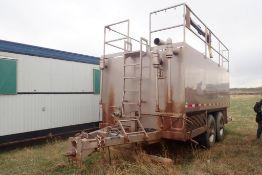 1998 Tandem Axle 80bbl Flowback Tank, VIN 2ATF10204WU306567.