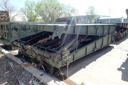 """Inter-Commerz 60T Portable 32'x12'6"""" Bridge Section w/Detachable Legs and 8 Handrails."""