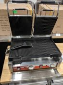 OMCAN DOUBLE PANINI RIBBED GRILL, 3200W, 220V, OMCAN 19937 - NEW