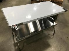 """48"""" X 24"""" STAINLESS STEEL FOLDING TABLE"""