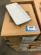 """4 CASES OF DUDSON GEOMETRIX RECTANGLE CHEF'S TRAY 8.5"""" - 12/CASE, MADE IN ENGLAND"""