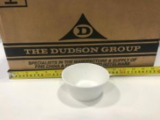 """DUDSON PRECISION WHITE BOWL 4"""" - 36/CASE, MADE IN ENGLAND"""