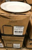 """2 CASES OF DUDSON CLASSIC 9 7/8"""" ROLLED EDGE MID RIM PLATE - 24/CASE, MADE IN ENGLAND"""