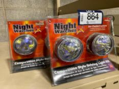 Lot of (2) Night Watcher Competition Style Driving Light Kits