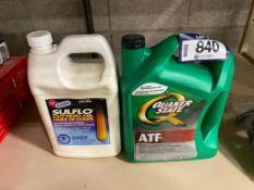 Lot of Quaker State 5L ATF and GUNK 3.78L Sulflo Cutting Oil