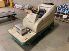 "2005 Tennant 7200 Electric Ride On Floor Scrubber, GVW 2,500lbs., 36V, 1.5HP, Dual 18"" Brush Discs D"