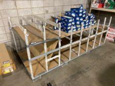 "48"" X 104"" Material Cradle w/ Asst. Cardboard Parts Bins"