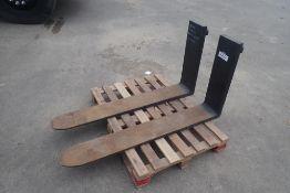 "Set of LWTJS Hook Class 3 49""x7""x1 3/4"" 26"" Rise Forks."