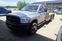 2007 Dodge Ram 3500 HD S/A Regular Cab 4x4 DRW Deck Truck. VIN 3D6WH46D17G788016. NOTE: NOT RUNNING.