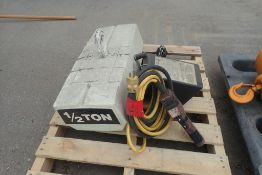 1/2-Ton Electric Chain Hoist.