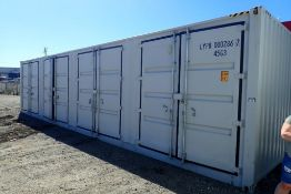 2018 Suihe 40' High Cube Sea Container w/ Rear Doors and 8 Side Doors.