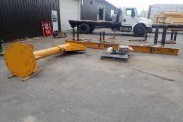 2-Ton Jib Crane w/Coffing JF2 2-Ton Electric Chain Hoist.