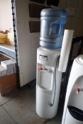 Lot of Oasis Hot/Cold Water Dispenser and Bottle Storage Stand.