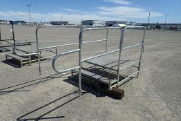 "Aluminum 48""x60""x20"" Stairs w/ Railings."