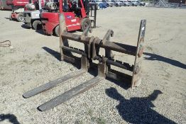 """CEM Equipment QA 50"""" Pallet Forks Attachment for Hyundai HL740-9 Loader. NOTE: REMOVAL AUG 17TH."""