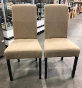 BEIGE CHAIRS - LOT OF 2