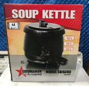 10.6 QT SOUP KETTLE WITH METAL LID - OMCAN 19073