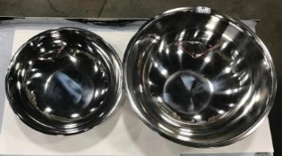 30QT & 13QT STAINLESS STEEL MIXING BOWLS