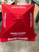 INNIS & GUNN RED PATIO UMBRELLA