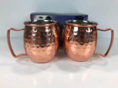 BOX OF 2 CANVAS MOSCOW MULE MUGS - 142-3850-0