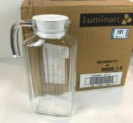 1.7L GLASS JUG WITH POURING LID - LOT OF 6