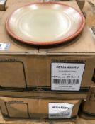 """2 CASES OF DUDSON TERRACOTTA & SAND 11 1/4"""" OVAL PLATE - 12/CASE, MADE IN ENGLAND"""