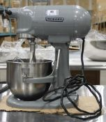 HOBART N50 5QT MIXER WITH HOOK, WHIP, PADDLE