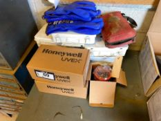 Lot of Asst. First Aid Kits, Safety Glasses, Rubber Gloves, Amber Light, etc.