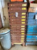 Lot of (14) Lawson Parts Drawers w/ Asst. Contents including, O-Rings, Fittings, Connectors, etc.