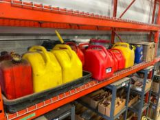 Lot of Asst. Fuel Cans and Lubricant
