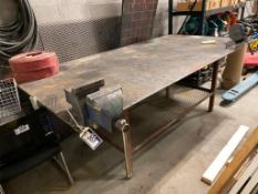 """Welding Table w/ Vise and 6"""" Bench Grinder"""