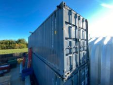 40' High Cube Sea Container w/ Shelving (Contents not included)