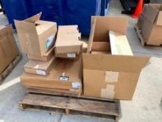 Pallet of Asst. Recessed Manifold Housings, SS Manifold w/ Flow Meter, Radiant Thermostats, etc.
